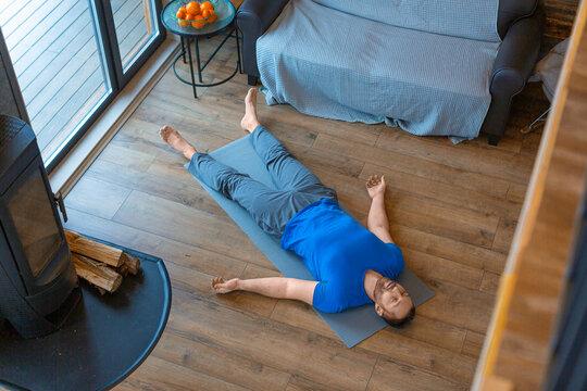 Relaxation practice. Yoga - shavasana