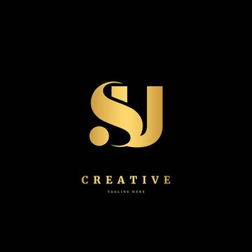 Initial letter SU logotype. Monogram logo design template. Minimalis logo concept for business and company.