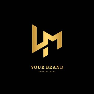 Initial letter LM with striped line. Luxury minimalist  logo design concept, fit for company and business.
