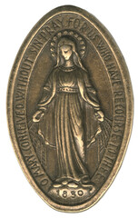 Fototapeta O Mary Conceived Without Sin Gold Bronze Medal obraz