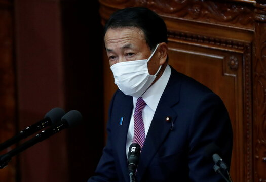 Japan's key economic ministers deliver policy speeches at start of parliament sessions