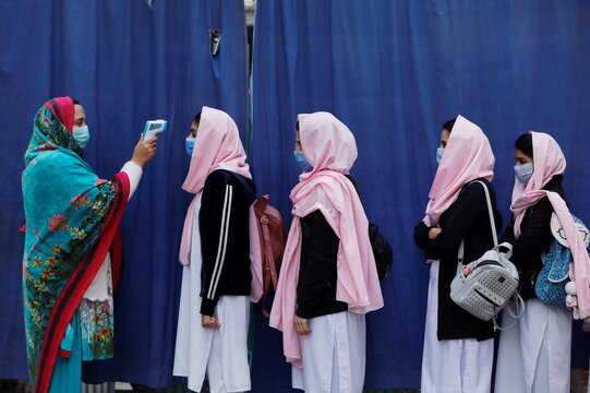 Secondary schools reopen amid the second wave of the coronavirus disease (COVID-19) outbreak, in Peshawar