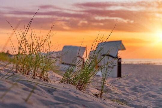 Sonnenuntergang an der Ostsee in Kühlungsborn, Deutschland