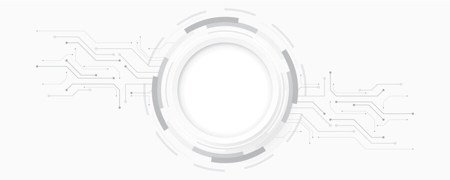 Abstract technology background circle geometry decoration, science and technology white background