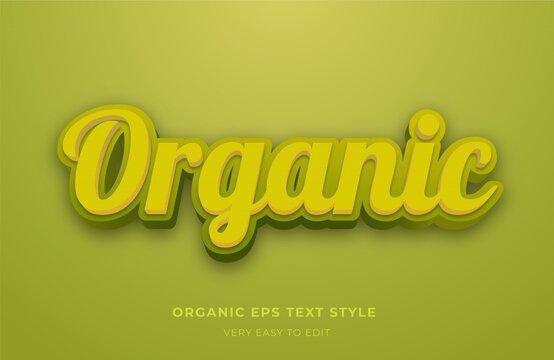 Organic 3d editable text effect, hot alphabet editable font