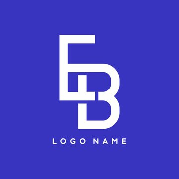 Merger of E and B letter vector logo template