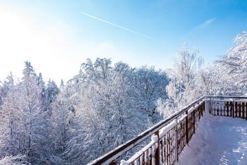 Wieżyca kaszuby wieża zima śnieg budowla