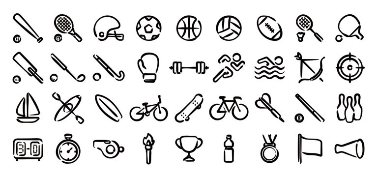 Sports Icon Set (Hand draw version)