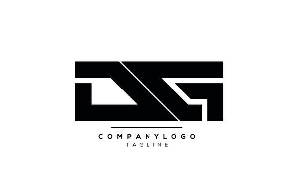 Abstract Letter Initial Letter DG Vector Logo Design Template