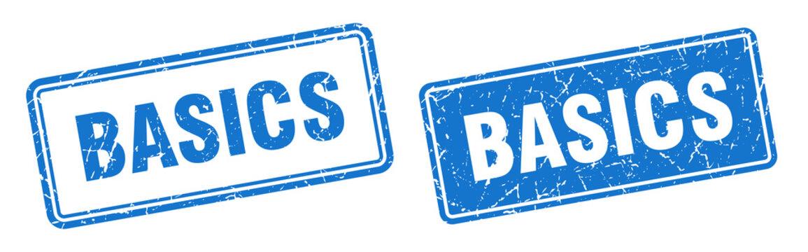 basics stamp set. basics square grunge sign
