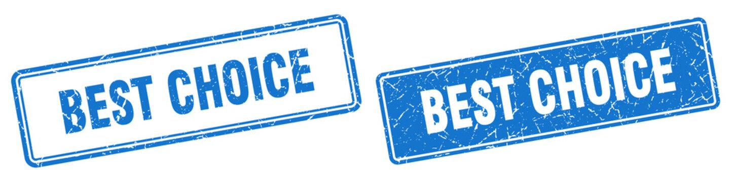 best choice stamp set. best choice square grunge sign