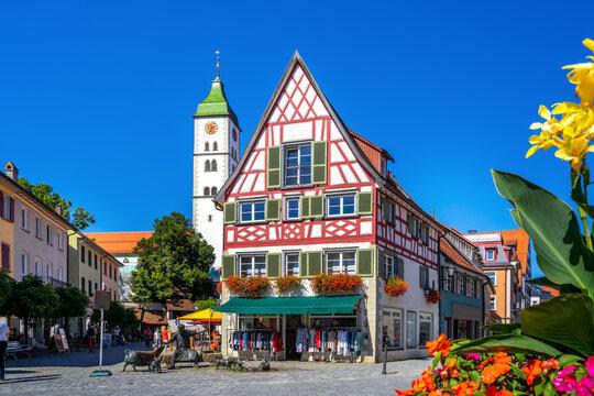 Am Saumarkt, Wangen im Allgäu, Baden-Württemberg, Deutschland