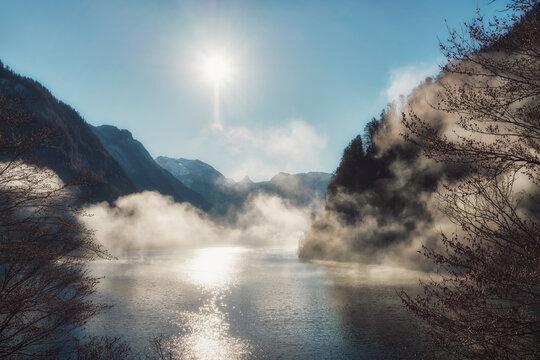 Königssee in Southern Bavaria, Germany, taken in December 2020