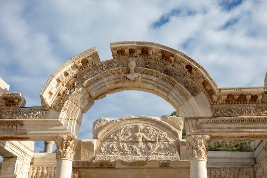 medusa head in the ancient city of Ephesus, Turkey