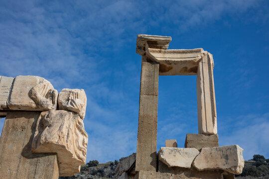 the ancient city door or column of Ephesus, Turkey