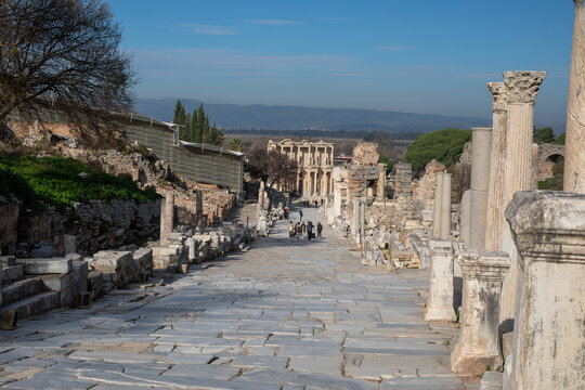 the ancient city way of Ephesus, Turkey