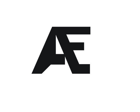 a and e creative logo designs and logo letters and initials
