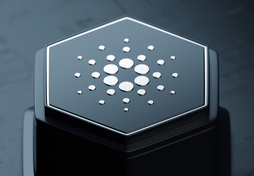 Cardano open source cryptocurrency blockchain platform project  - 3D render icon