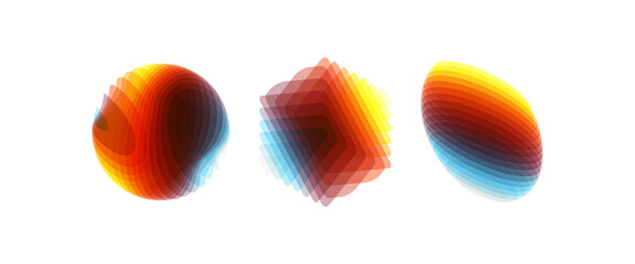 Obraz Set of various overlapping elements. Abstract geometric design. Vector illustration for banners, placards, posters or flyers. - fototapety do salonu