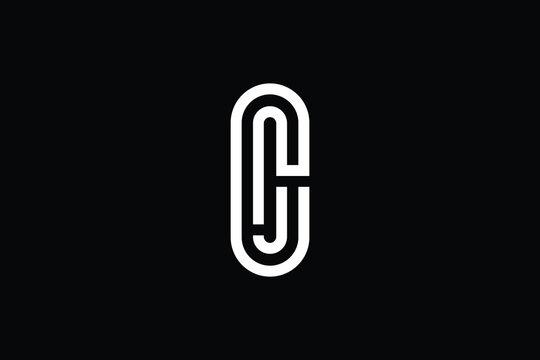 CJ logo letter design on luxury background. JC logo monogram initials letter concept. CJ icon logo design. JC elegant and Professional letter icon design on black background. J C CJ JC