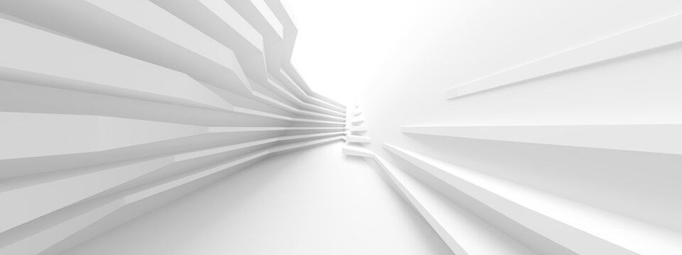 Abstract Light Background. Curved Graphic Design