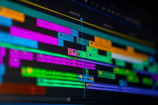 Professional video editing timeline. video editing concept.