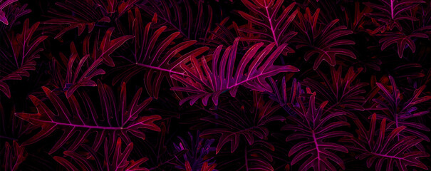closeup nature view of purple leaf  background