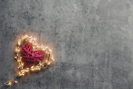 A sparkling heart. Valentine's Day.