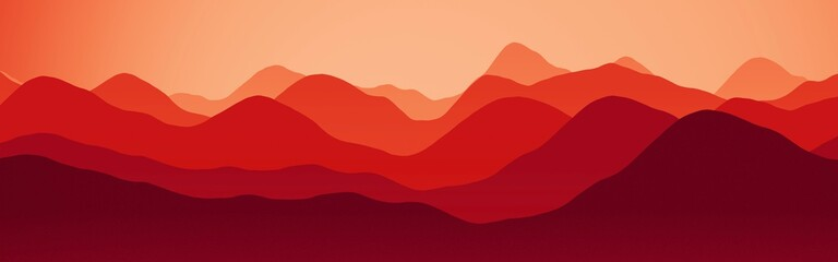 beautiful mountains in the time of sun to set digital drawn texture background illustration