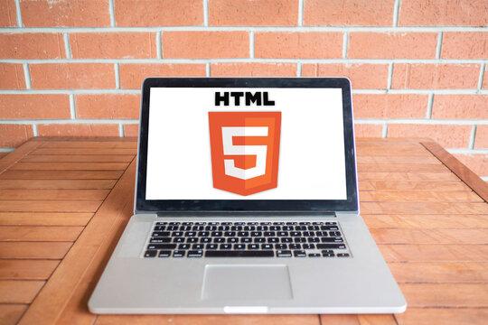 HTML 5 logo editorial illustrative