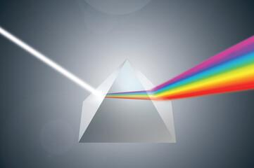 prism pryzmat tęcza Rainbow colorful światło lumen