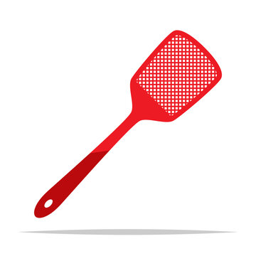 Fly swatter vector isolated illustration