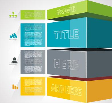 Geometric Timeline infographic design for illustration of new technologies, marketing, presentation, workflow layout, diagram, annual report, web desig