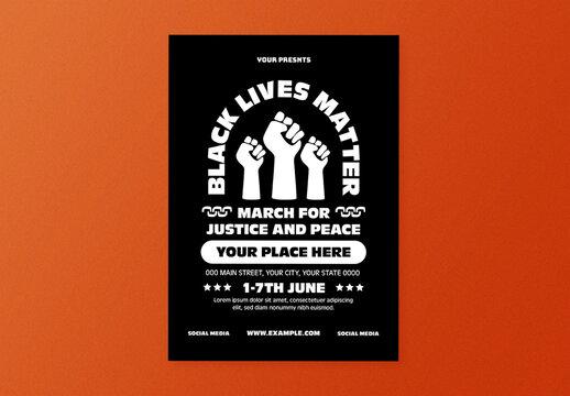 Black Lives Matter Flyer Layout