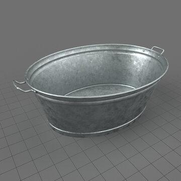 Zinc metal tub