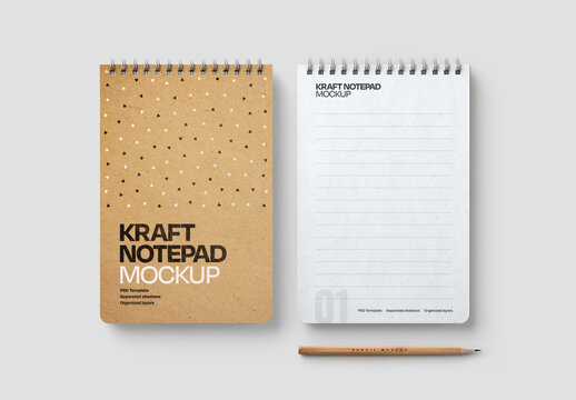 Kraft Notepad Mockup