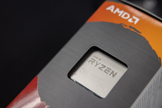 BANGKOK,THAILAND-JANUARY 19: View of the New AMD Ryzen 9 5950X CPU on January 19,2021