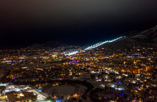 night view of Steamboat Springs