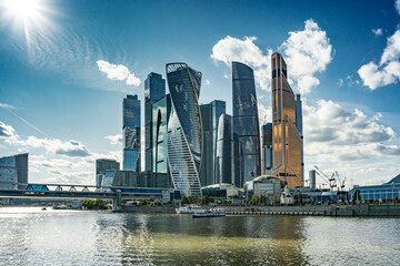 view of Moscow city Moscow Russia panorama skyline