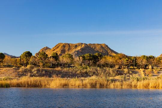 Afternoon view of the beautiful scenery around Lake Las Vegas