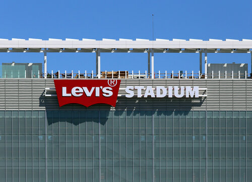 Santa Clara, CA, USA - March 18, 2014: The exterior of Levi's Stadium, home to the San Francisco 49ers of the NFL.