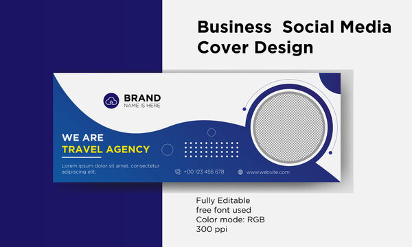 Travel Agency Social media facebook  cover template