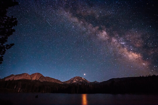 Milky Way Over Lassen Peak, Lassen Volcanic National Park, California