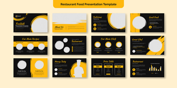 Restaurant Food PowerPoint Presentation Slide Template Design