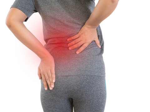 Women have back pain while exercising.