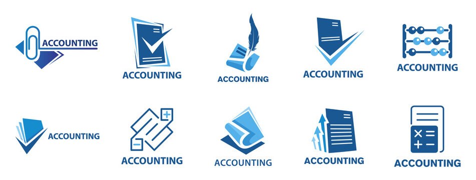 Vector logo of an accounting company, finance