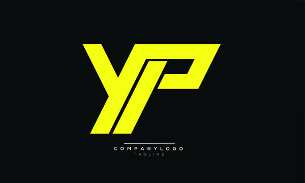 YP icon monogram letter text alphabet logo design