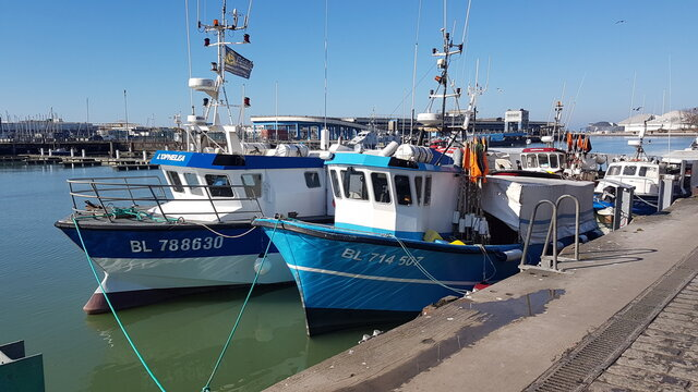 boats in marina - Boulogne sur Mer - France