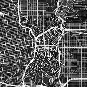 SanAntonio, UnitedStates dark vector art map