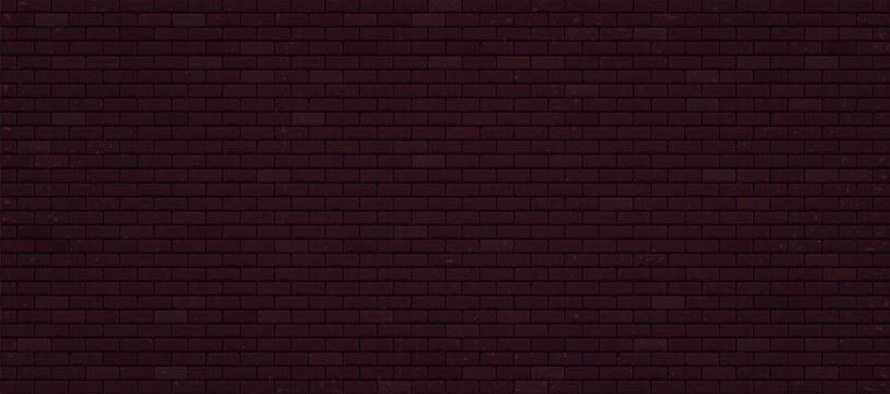 Realistic dark brick wall. Vector illustration EPS 10